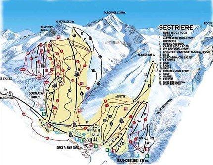 Карта Сестриере – увеличить изображение