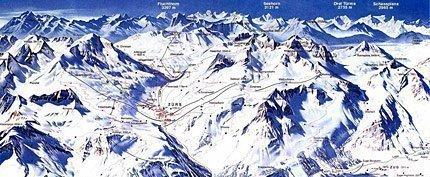 Увеличить изображение схемы склонов горнолыжного курорта Лех