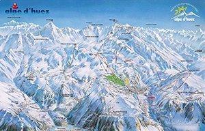 Увеличить изображение схемы склонов горнолыжного курорта Альп д`Юэз