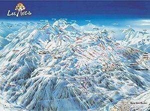 Увеличить изображение схемы склонов горнолыжного курорта Ле Дез Альп