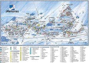 Увеличить изображение схемы склонов горнолыжного курорта Ле Менюир