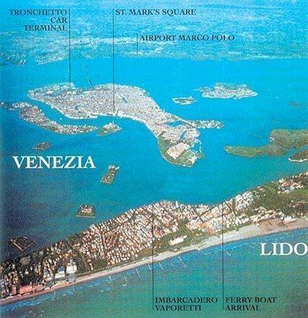 Карта региона Лидо ди Езоло